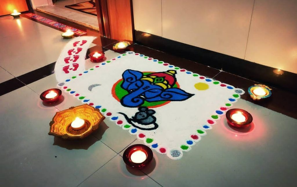 Best Rangoli Designs for Ganpati