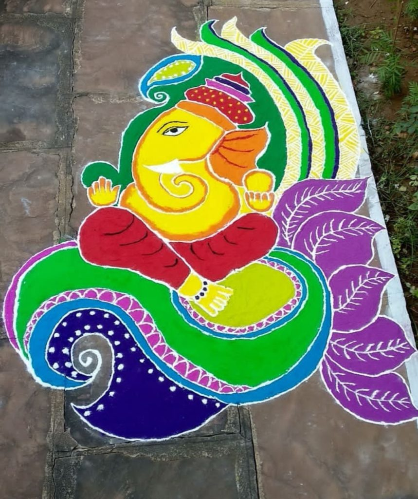 Best Rangoli Designs for Ganpati